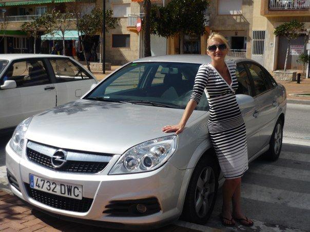 Foto af Karen Seneca på bilferie i Sydspanien. Rejseblokken