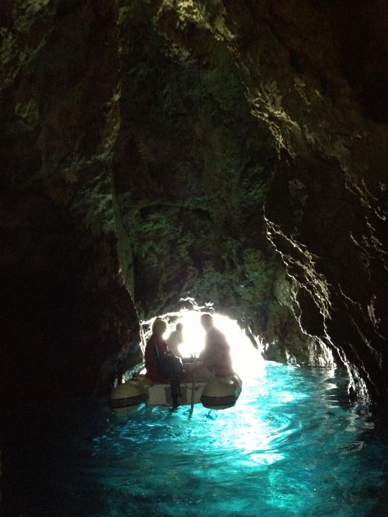 Grotten ved Bisevo, Kroatien.