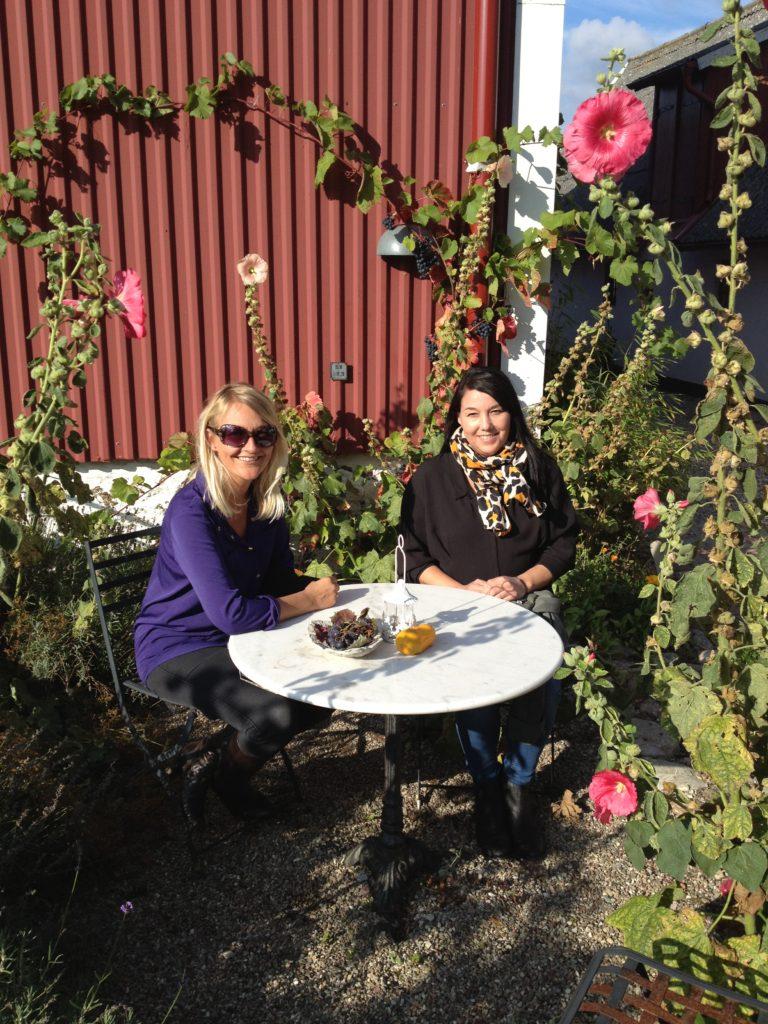Karen og Lone på Hällåkra Vingård