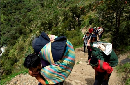 Inkastien op til Machu Picchu