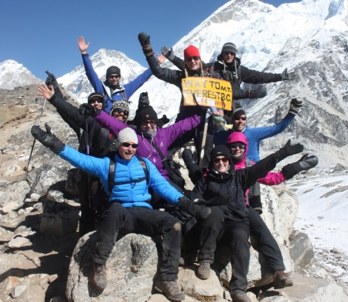 Gruppe på Mount Everest