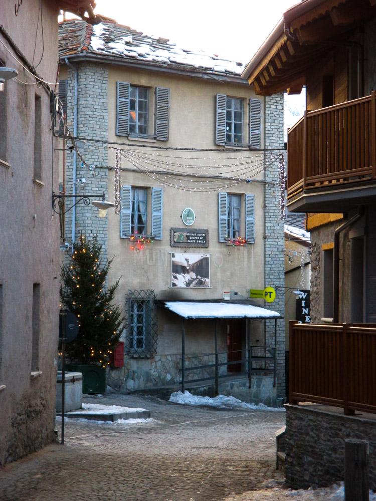 Skiferie i Italien, foto fra en landsby