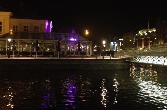 Restauranten Skeppsbron 2, hvor vi fik svensk julemad i Malmø, set udefra.