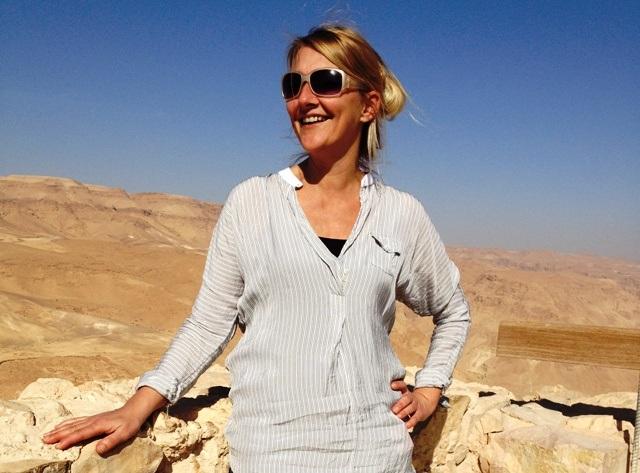 Karen Seneca på Masada