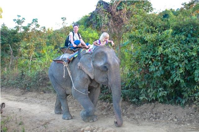 Ridetur på en af Myanmars elefanter