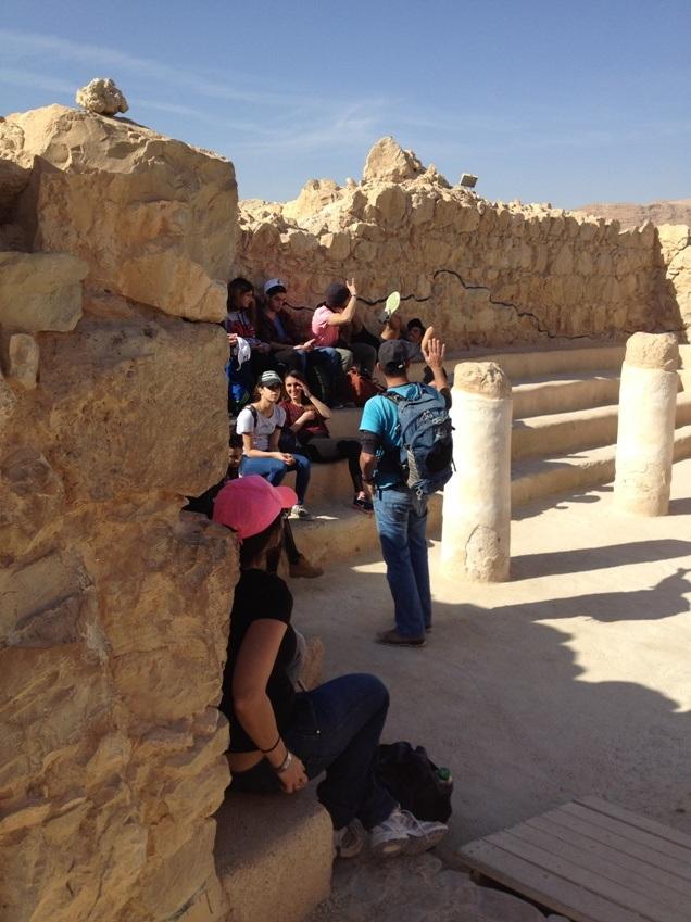 Synagogen på Masada, hvor zeloternes leder opfordrede til at dø fremfor at overgive sig. Foto: Karen Seneca