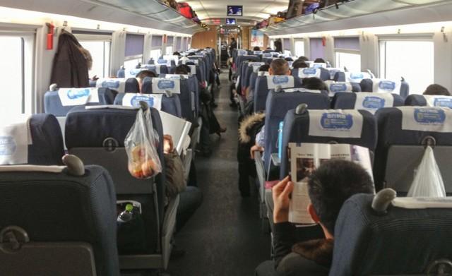Foto af tog i Kina