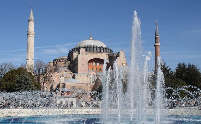 Foto af Hagia Sofia. Rejsetips til Istanbul