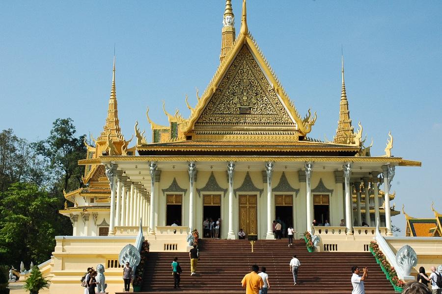 kongepaladset i Phnom Pehn, Cambodja