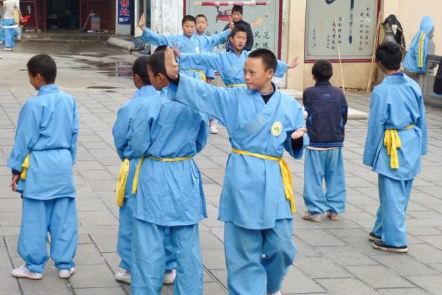 Foto af Kong Fu skole i Shaolin