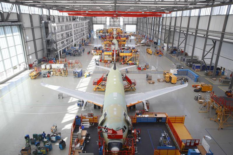 Airbus fabrik i Hamborg