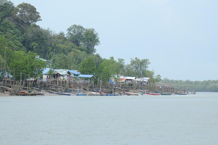 Flodcruise på Borneo