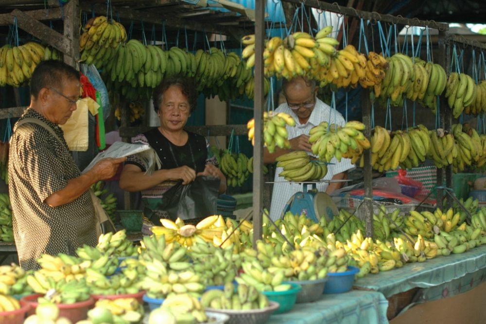 weekendmarked på Borneo
