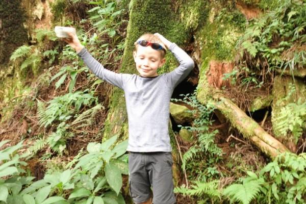 Foto af geocaching - gratis sjov for børn
