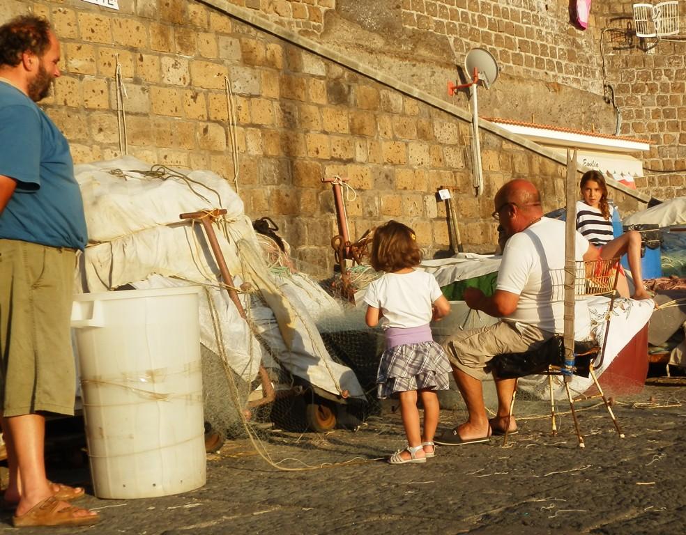 Ved vores yndlingsstrand Marina Grande tæt på Sorrento