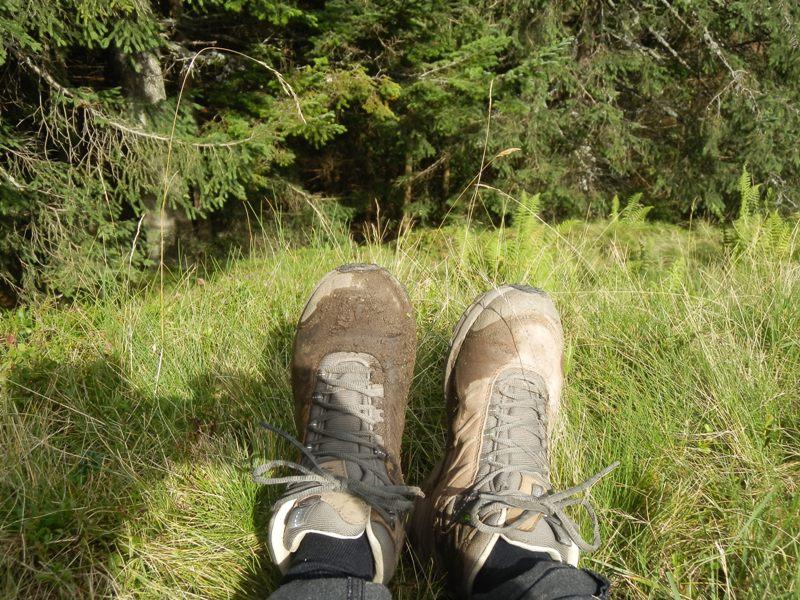 Vandrestøvler på bjergvandring