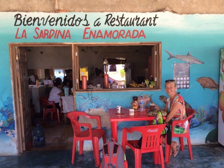 Karen Seneca på cafe på Yucutanhalvøen i Mexico