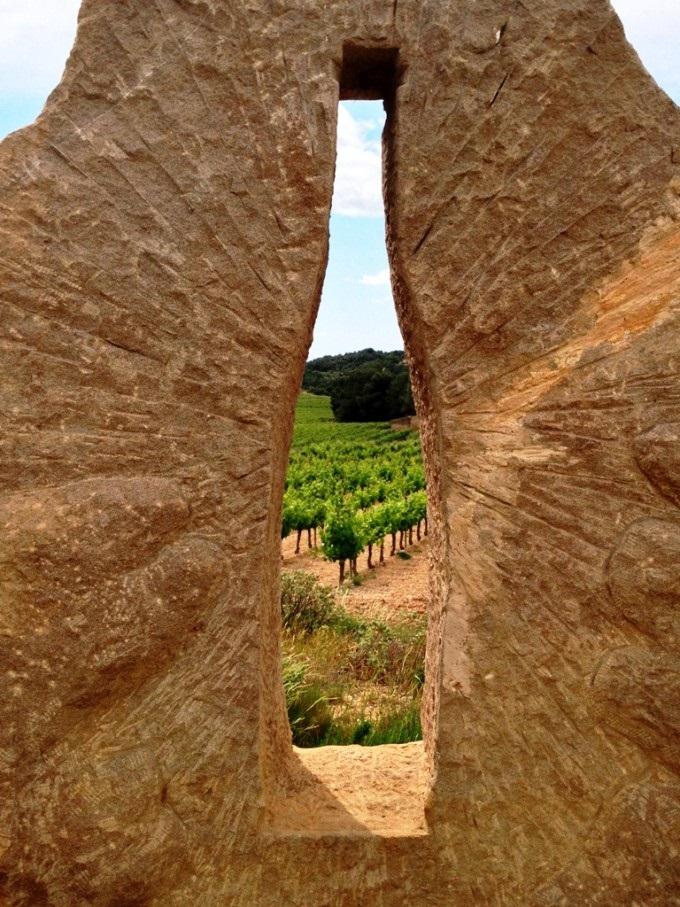 Kunst på vinmark i Languedoc