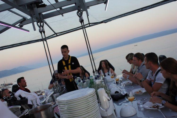 Dinner in the sky i Kroatien