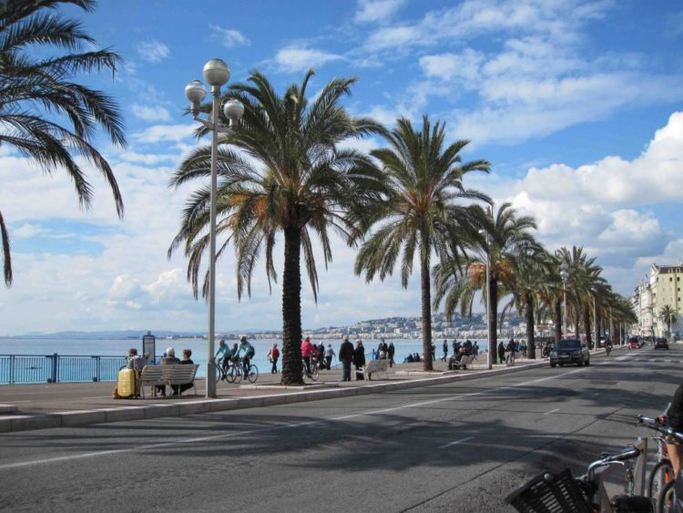 Foto af Promenade des Anglais i Nica, Sydfrankrig