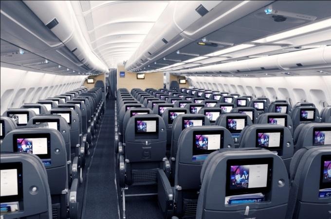 SAS kabine ombord til Miami
