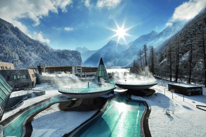 Aqua Dome, du kan besøge, når du er på ski i ötztal