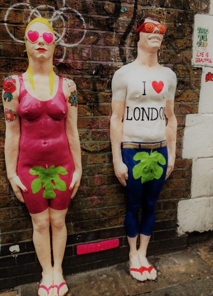 Brick Lane to skulpturer, street art