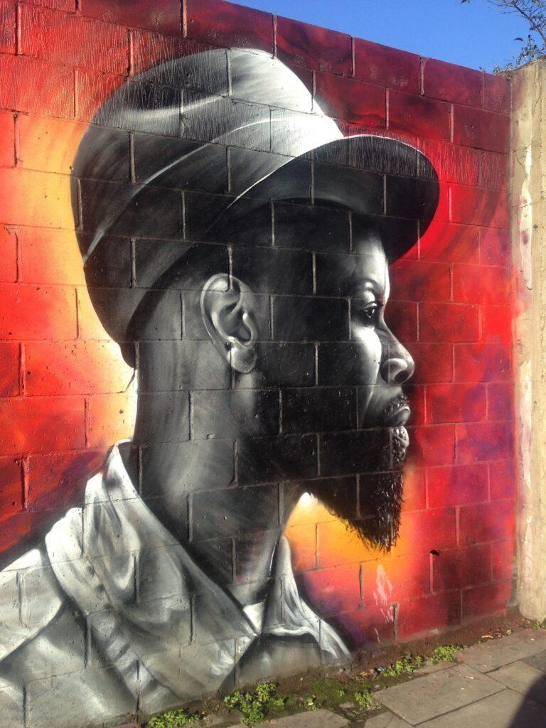 Street art on Hackney Road in Shoreditch