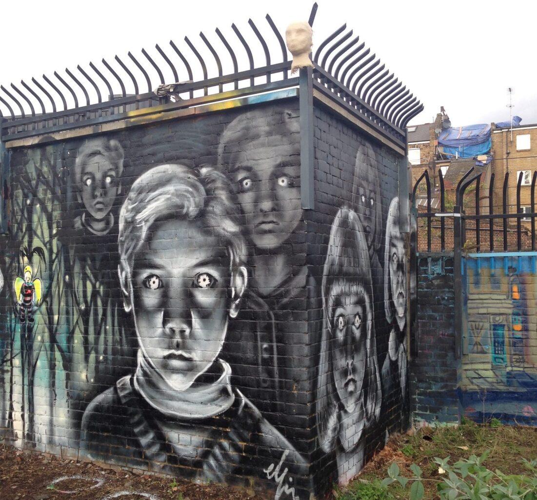 Street art Nomadic garden in London