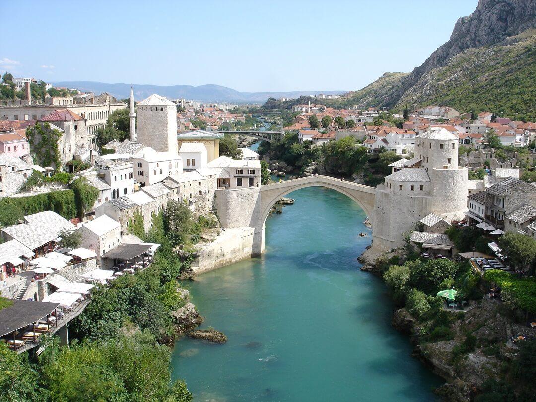 Byen Mostar i Bosnien Herzegovina