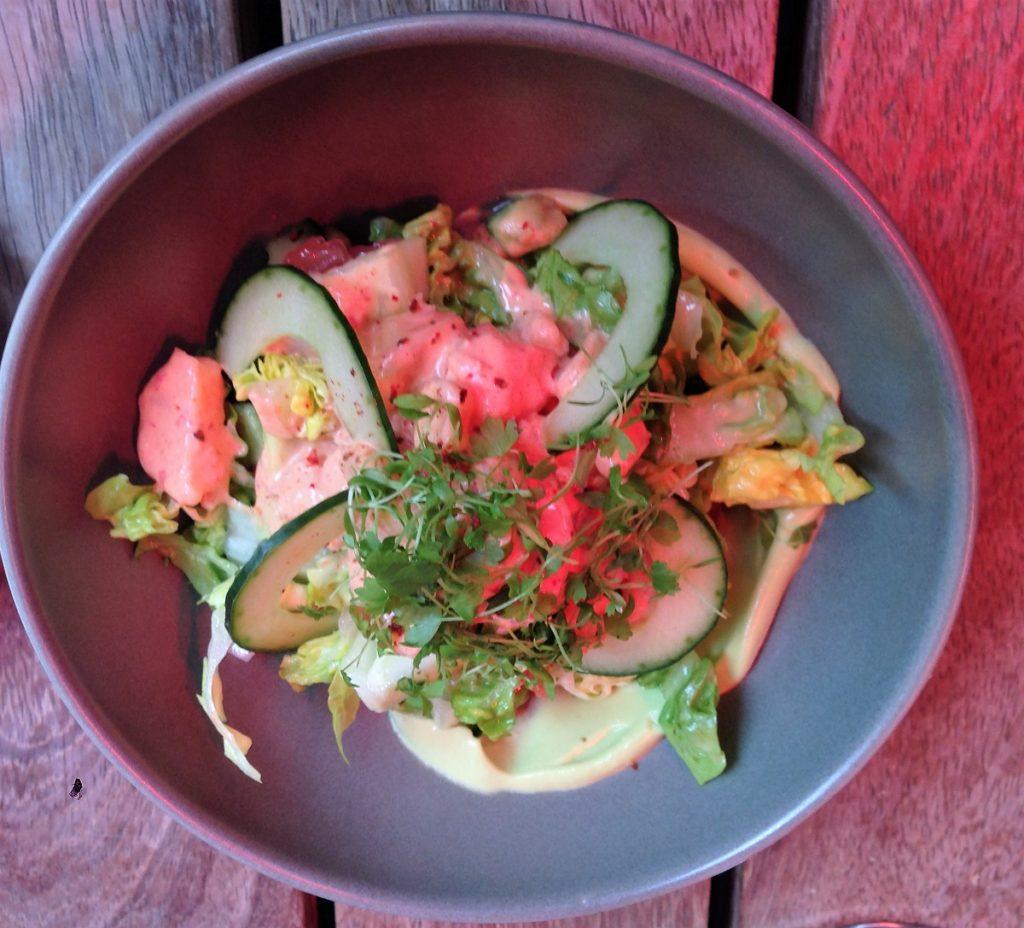 Denne rejecocktail er fra en af de gode spisesteder i London: Heddon Str Kitchen