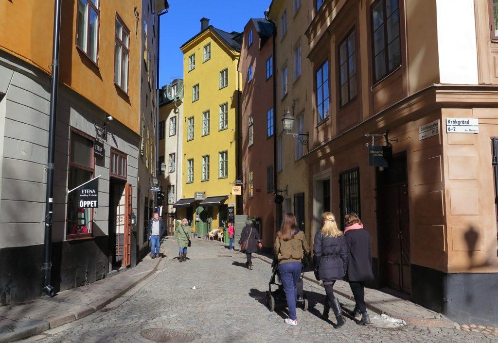 Foto fra gamla Stan i Stockholm