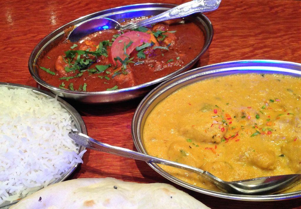 Foto af indisk mad på en af de mange indiske restauranter i London