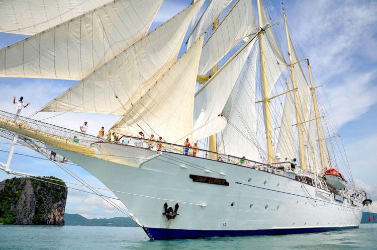 Star Clipper sejlskibet, stævnen.