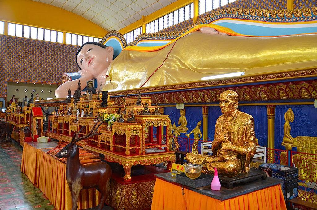 Liggende Buddha på Penang Island.