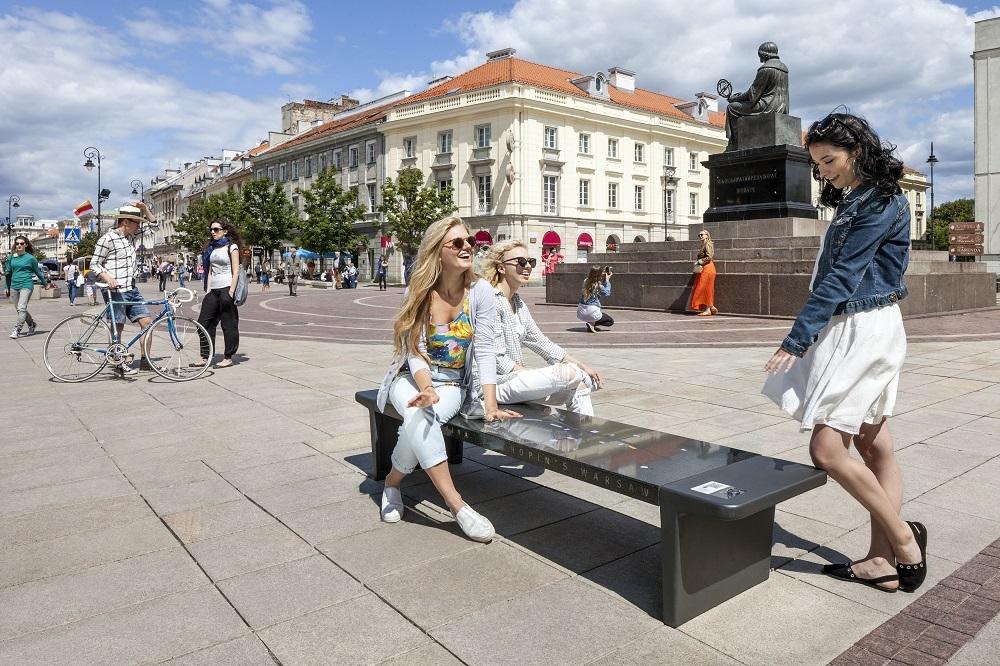 Chopin bænk i Warszawa ©Warsaw Tourist Office