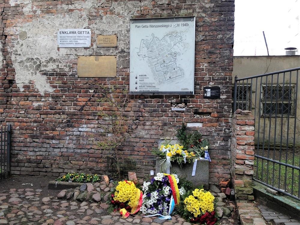 Rest af ghettomuren i Warszawa