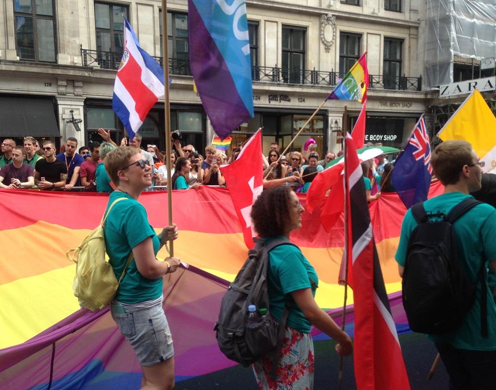 Pride i London 2017, del af et optog, Foto: Karen Seneca