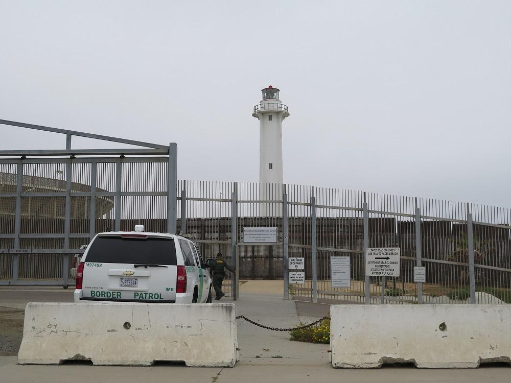 Grænse mellem Mexico og San Diego