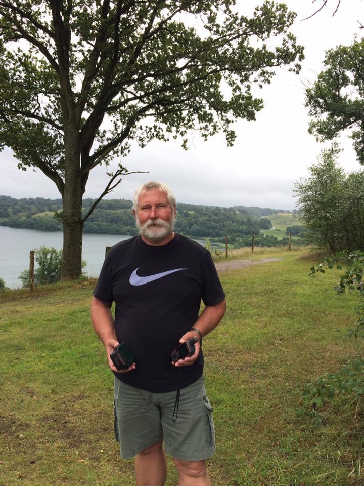 Keld Petersen i gang med geocaching