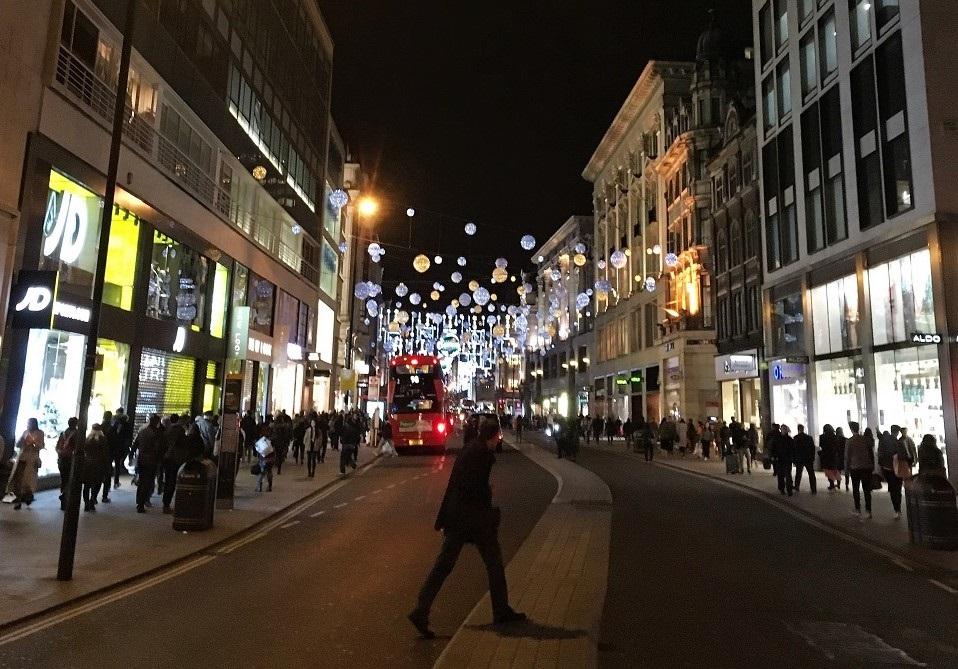 Jul i London: Oxford Street