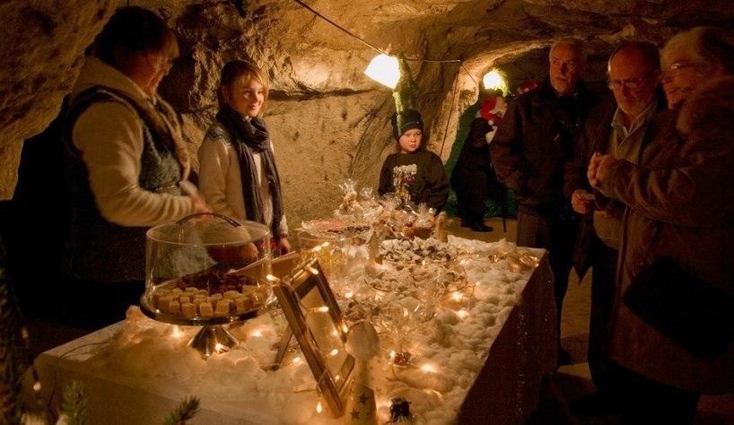 Julemarked i en grotte i Skåne