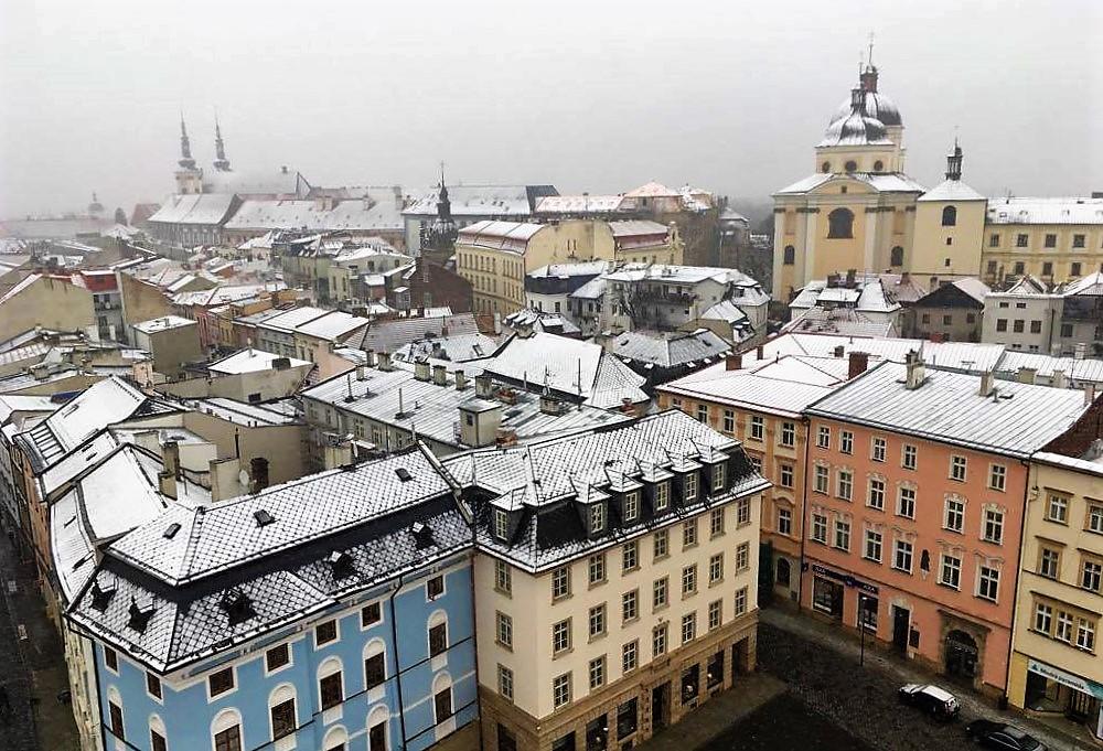 Udsigt over Olomouc fra rådhustårnet