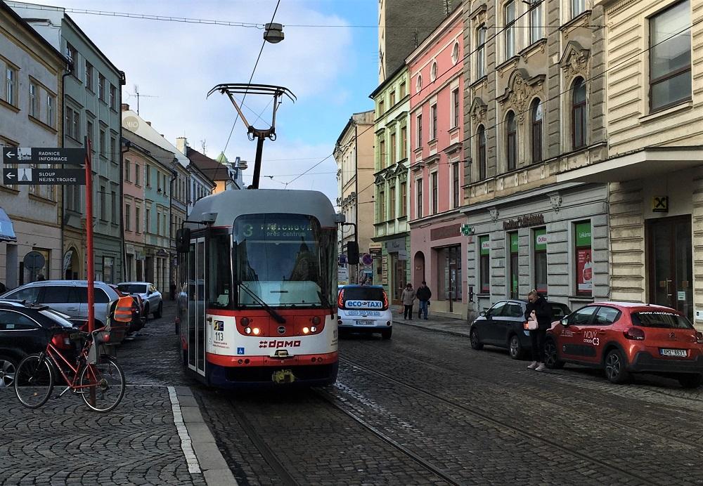 En sporvogn i den tjekkiske by Olomouc