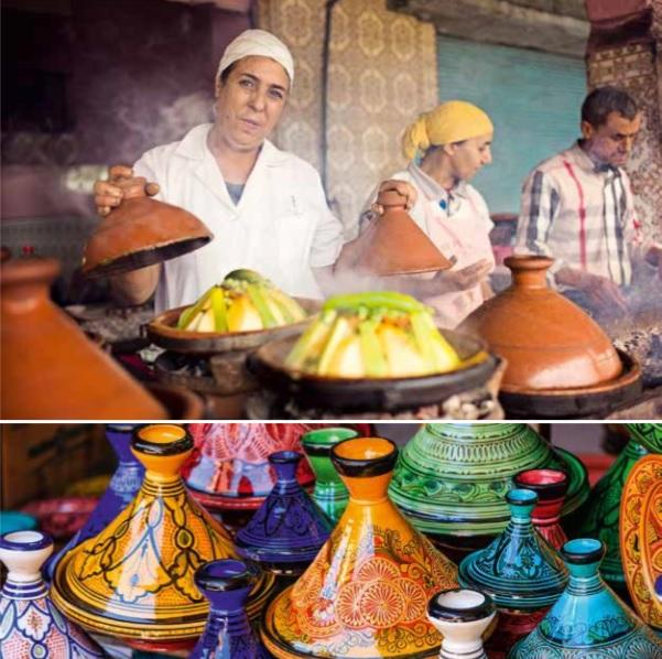 Foto fra 'Marrakech, smag, steder, stemning', til ill. om spisesteder i Marrakech