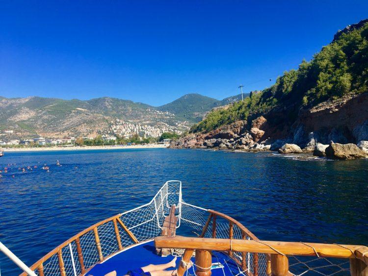 Bådtur udenfor Alanya