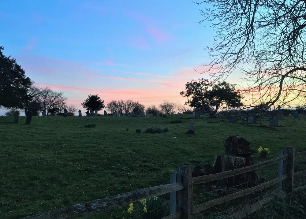Solnedgang i Kent