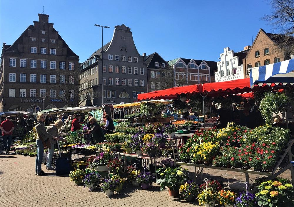 Blomstermarked i Flensborg