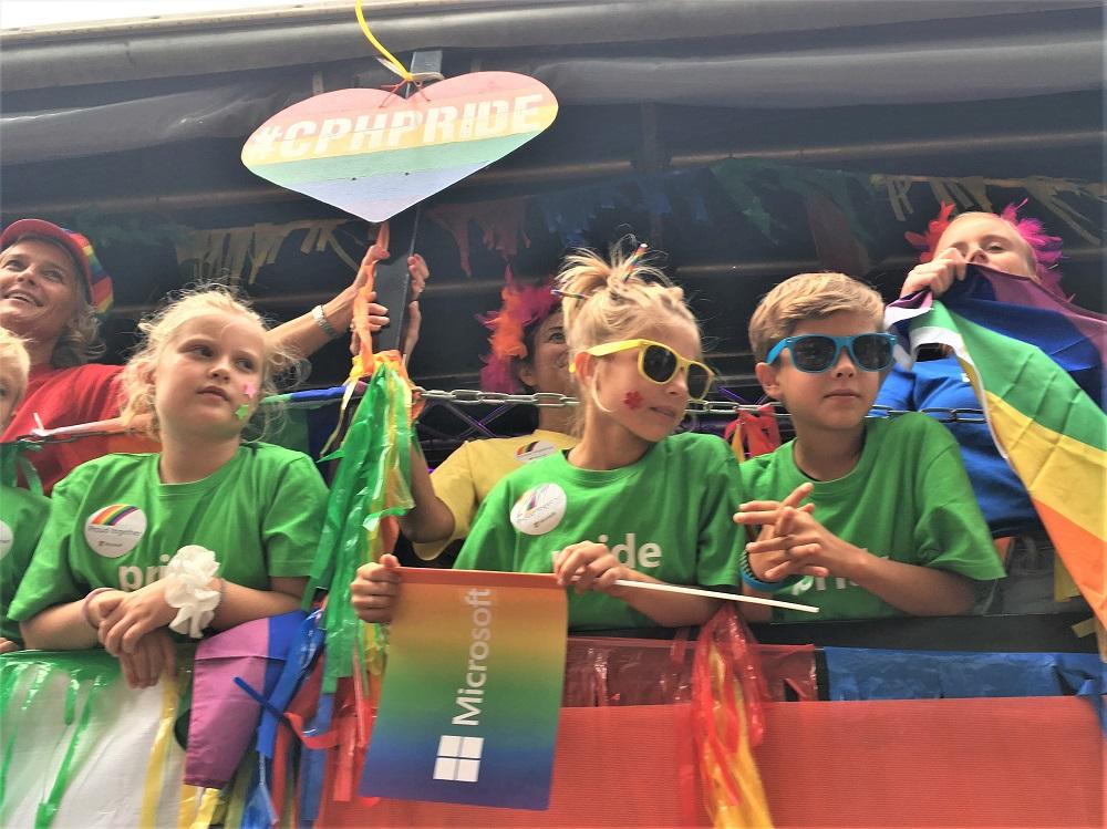 Børn til Copenhagen Pride Parade 2018