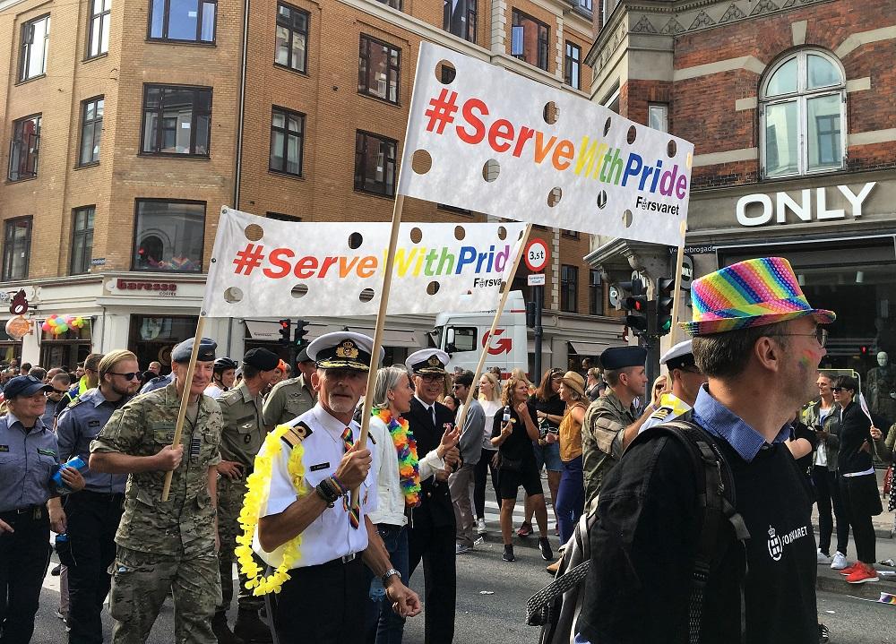 Forsvaret til Copenhagen Pride 2018